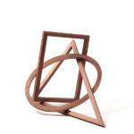 Formobile von Peer Clahsen. Holzobjekt Nussbaum